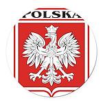 polska-dark.png Round Car Magnet