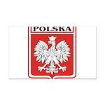 polska-dark.png Rectangle Car Magnet