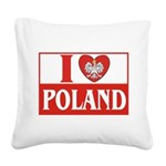 lovePOLAND.jpg Square Canvas Pillow