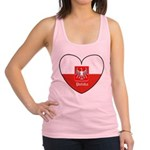 polska-heart2.jpg Racerback Tank Top