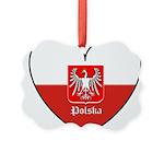 polska-heart2.jpg Picture Ornament