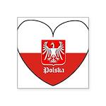 polska-heart2.jpg Square Sticker 3