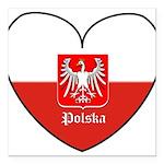 polska-heart2.jpg Square Car Magnet 3