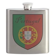 Portugal Flag Crest Shield Flask
