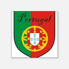 """Portugal Flag Crest Shield Square Sticker 3"""" x 3"""""""