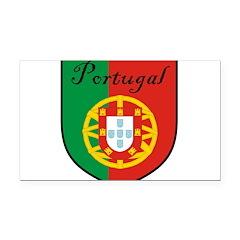Portugal Flag Crest Shield Rectangle Car Magnet