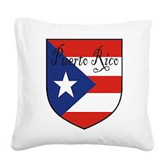 PuertoRico-Shield.jpg Square Canvas Pillow