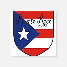 "PuertoRico-Shield.jpg Square Sticker 3"" x 3"""