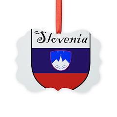 Slovenia Flag Crest Shield Picture Ornament