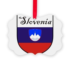 Slovenia Flag Crest Shield Ornament