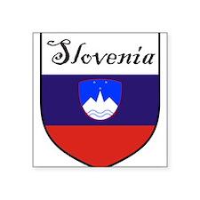 "Slovenia Flag Crest Shield Square Sticker 3"" x 3"""