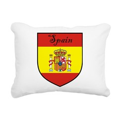 Spain Flag Crest Shield Rectangular Canvas Pillow