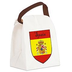 Spain Flag Crest Shield Canvas Lunch Bag