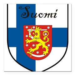 "SuomiShield.jpg Square Car Magnet 3"" x 3"""