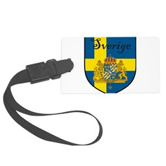 Sverige Flag Crest Shield Luggage Tag