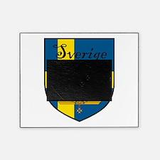 Sverige Flag Crest Shield Picture Frame