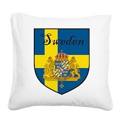 SwedenSHIELD.png Square Canvas Pillow