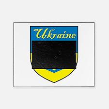 Ukraine Flag Crest Shield Picture Frame