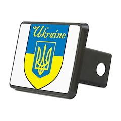 Ukraine Flag Crest Shield Hitch Cover