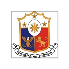 "philippines-coa.jpg Square Sticker 3"" x 3"""