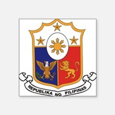 "philippines-coa.jpg Square Sticker 3"" x 3"""