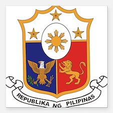 """philippines-coa.jpg Square Car Magnet 3"""" x 3"""""""