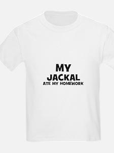 My Jackal Ate My Homework Kids T-Shirt