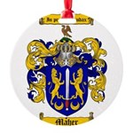 Maher Family Crest Round Ornament