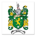 Malone Family Crest Square Car Magnet 3