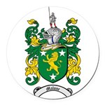 Malone Family Crest Round Car Magnet