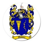 Maloney Family Crest Round Car Magnet