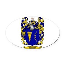 Maloney Family Crest Oval Car Magnet
