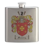 Manning Family Crest Flask