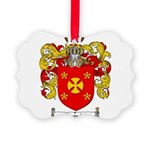 Manning Family Crest Picture Ornament