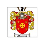 Manning Family Crest Square Sticker 3