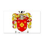 Manning Family Crest Rectangle Car Magnet