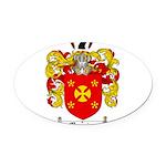 Manning Family Crest Oval Car Magnet
