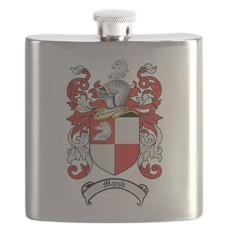 Marsh Family Crest Flask