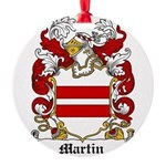 Martin Family Crest Round Ornament