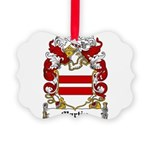 Martin Family Crest Picture Ornament