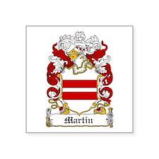 """Martin Family Crest Square Sticker 3"""" X 3&quo"""