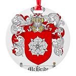 McBride Family Crest Round Ornament