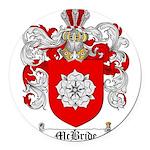 McBride Family Crest Round Car Magnet