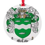 McCabe Family Crest Round Ornament