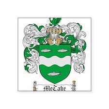 "McCabe Family Crest Square Sticker 3"" x 3"""
