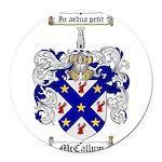 McCallum Family Crest Round Car Magnet