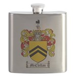 McClellan Family Crest Flask