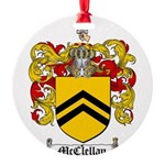 McClellan Family Crest Round Ornament