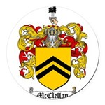 McClellan Family Crest Round Car Magnet