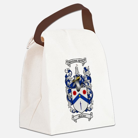 McClure Family Crest Canvas Lunch Bag